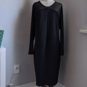 NWT CALVIN KLEIN BLACK  FITTED EVENING DRESS